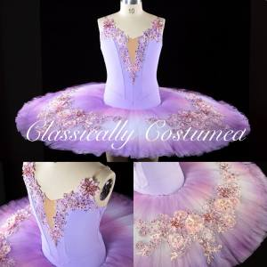 Lilac Classical Ballet Stretch Compeitition Tutu