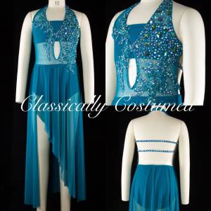 Teal Lyrical Dance Costume
