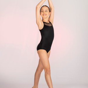 Dotted Yoke Leotard