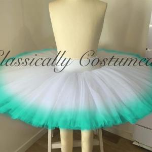 Performance 1/2 tutu with dyed outer edge