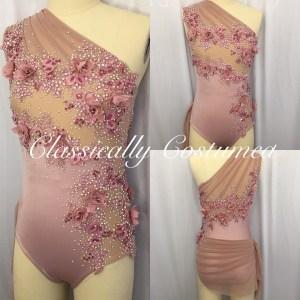 Dusky Pink Lyrical Competition Designer Dance Costume