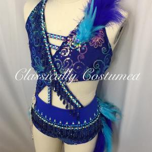 Royal Blue Beaded Fringe Jazz
