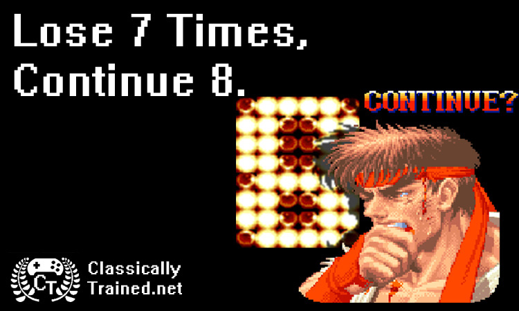 street fighter ryu continue screen lose classically trained