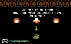 your turn get off my lawn zelda