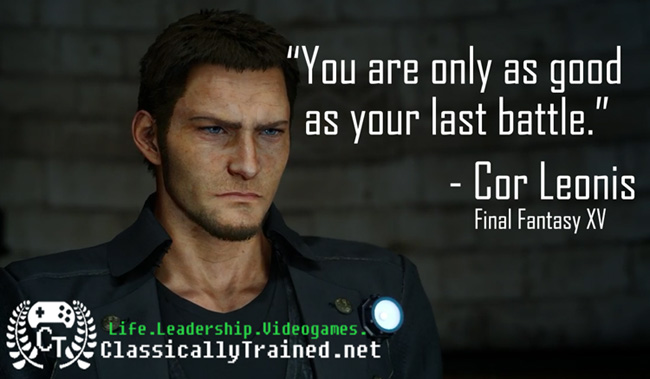 Video game quotes final fantasy xv on success classicallytrained final fantasy xv quotes voltagebd Image collections