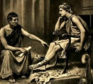 Aristotle Teaching Alexander