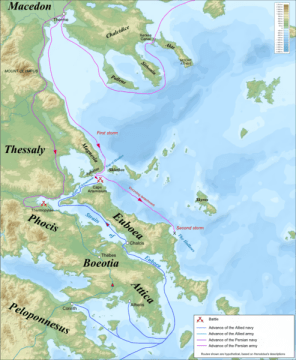 The Battle of Thermopylae Campaign map.