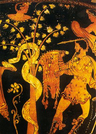 Jason and the argonauts slay the dragon