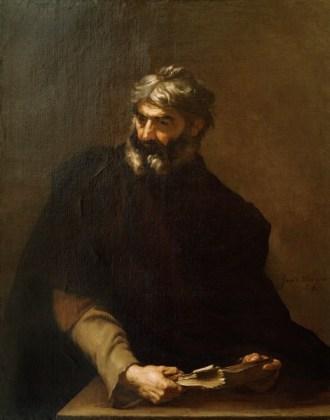 Protagoras v. Abdera / Gem.v.J.de Ribera - Protagoras of Abdera /Painting by Ribera -