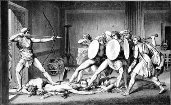 Odysseus' killing of the suitors