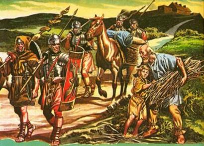 Roman Soldiers on the road