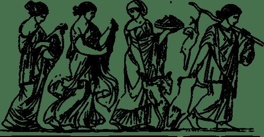 Women in a procession