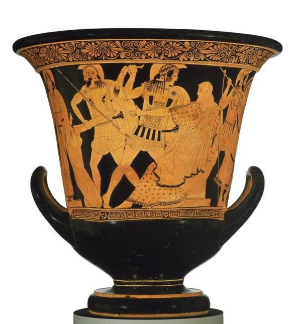 Krater with Troy scene