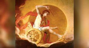 Painting of the Greek sun god
