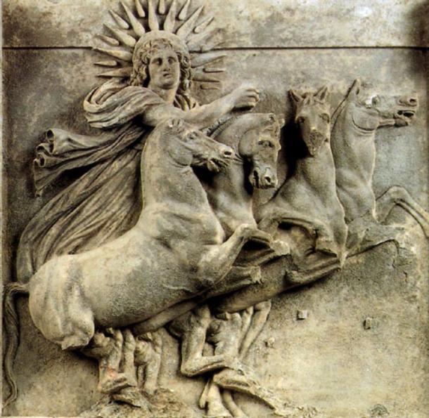Sculpture of the Greek Sun god