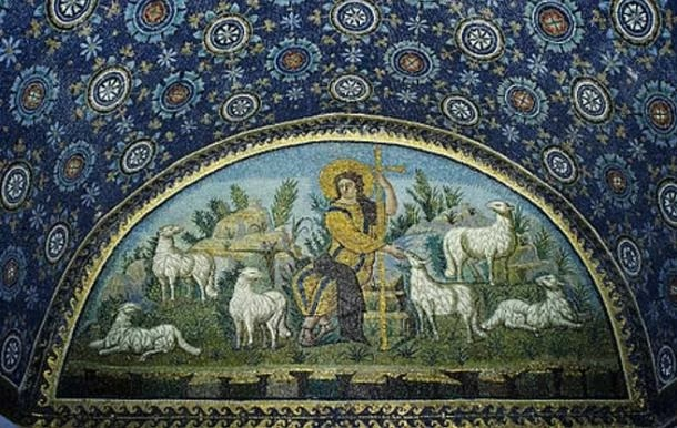 Mosaic of the Good shephard