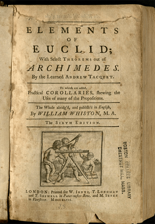 Book cover of Euclid's work