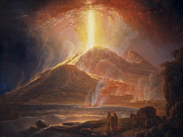 Painting of Mt Vesuvius
