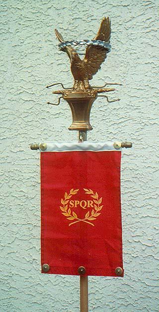 A modern recreation of a Roman standard.