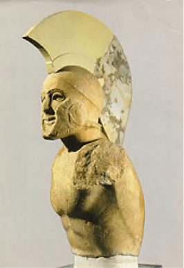 Marble statue of a Spartan king