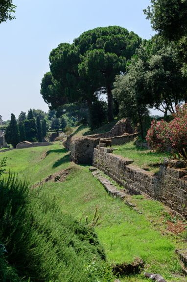 City walls south of the Nocera gate