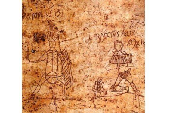 Graffiti in Pompeii of Popular Gladiators