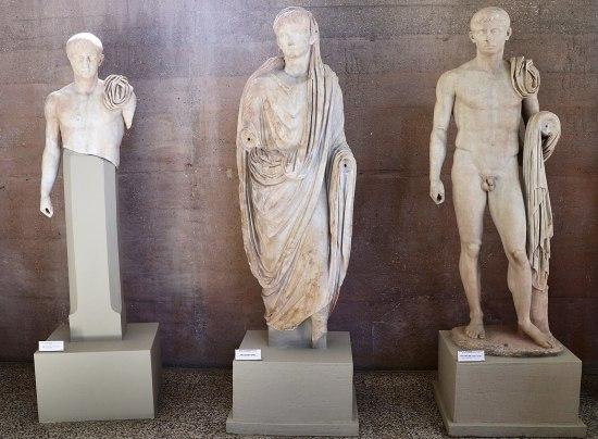 Lucius and Gaius with Augustus