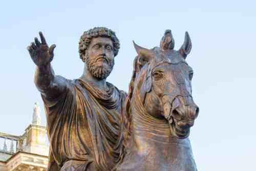 Statue of Marcus Aurelius on horseback