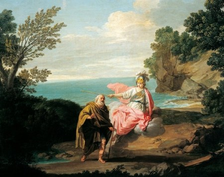 Ulysses transformed by Athena into beggar, 1775, by Giuseppe Bottani