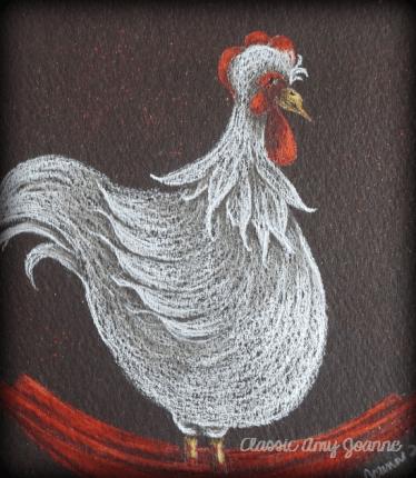 Rockin' Chicken Colored Pencil Design