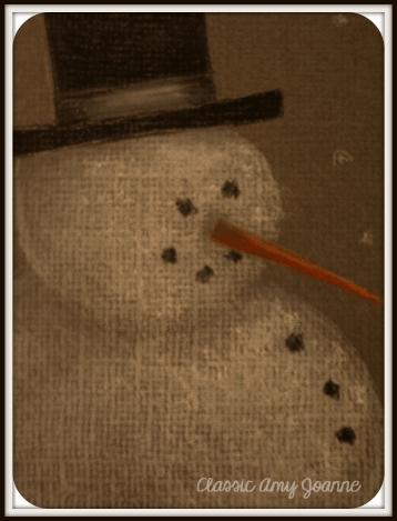 Mr Snowman Colored Pencil Design