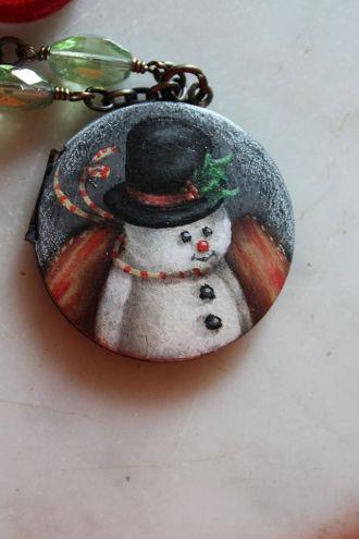 snowman-necklace