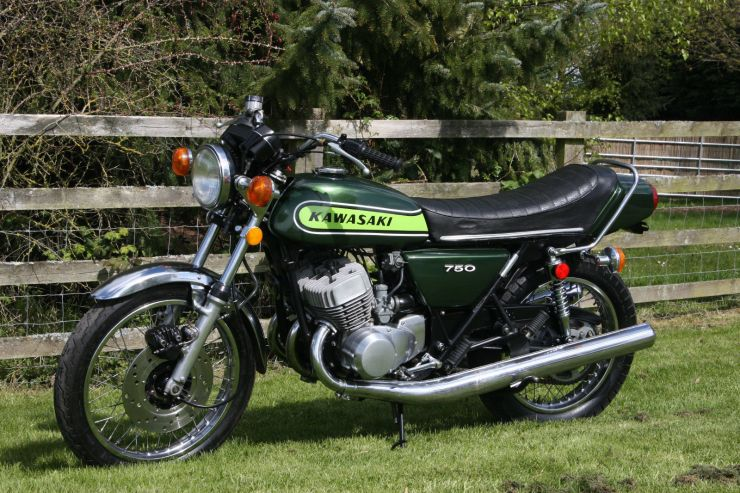 1 Kawasaki H2B H2 B 750 1974 totally original For Sale
