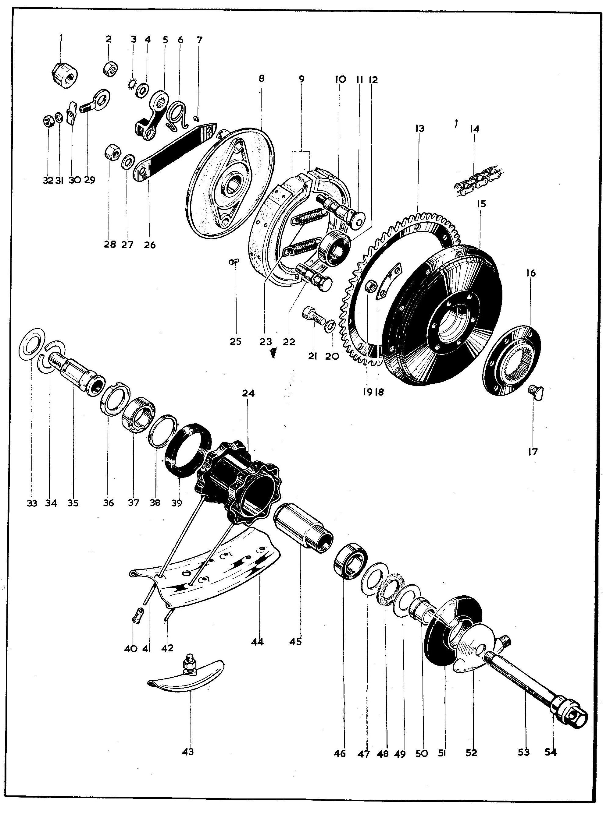 Bsa B25 B44 Rear Brake Anchor Strap Torque Arm
