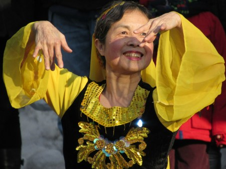 After the parade, performances were held that included Chinese dancers ...