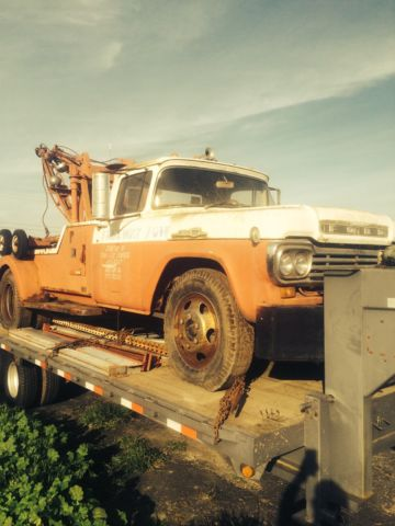 1959 Ford F600 Tow Truck Custom Wrecker Rat Rod Project Classic Vintage Holmes For Sale In Tracy