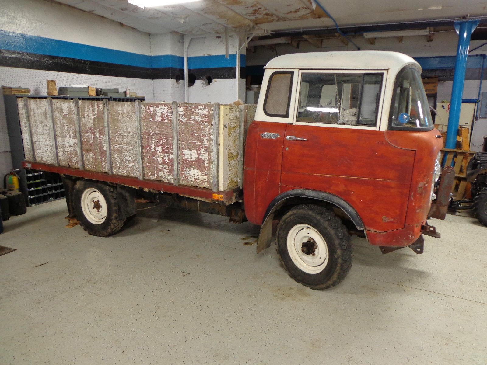 1964 Jeep Forward Control 170 4x4 Flatbed 3spd Hurricane 6cyl cab