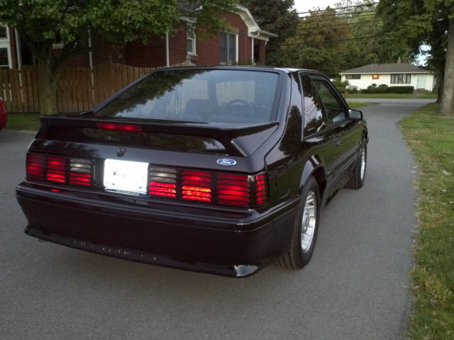 1990 Mustang GT 50 Black Show Car In Excellent Condition