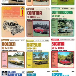 Some of the classic car workshop manuals on eBay