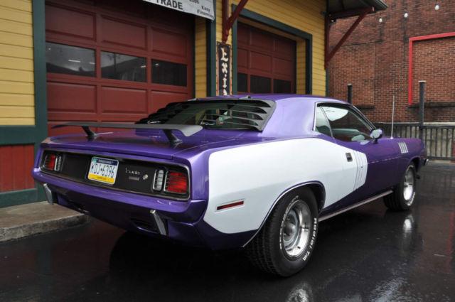 1971 Plymouth Cuda Plum Crazy Purple 426 Hemi Cuda 179