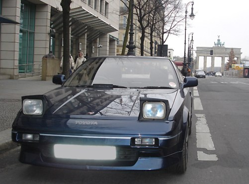 Toyota MR2 MK1 Front eyes open
