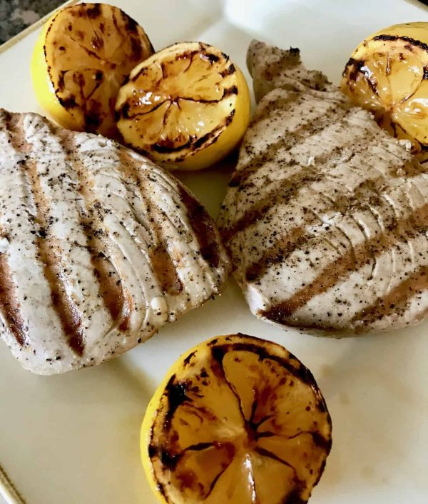 Grilled Ahi Tuna and Lemons