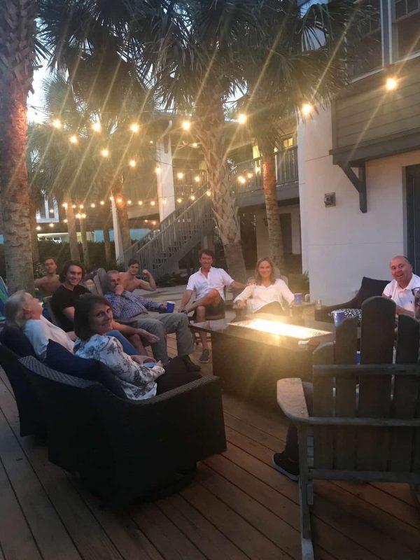 Backyard Party around fire pit