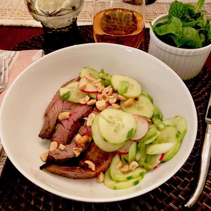 Healthy Asian Steak Salad with Fresh Herbs