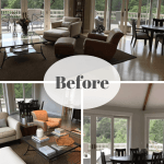 Living Dining Room Makeovers With Gorgeous Views Before