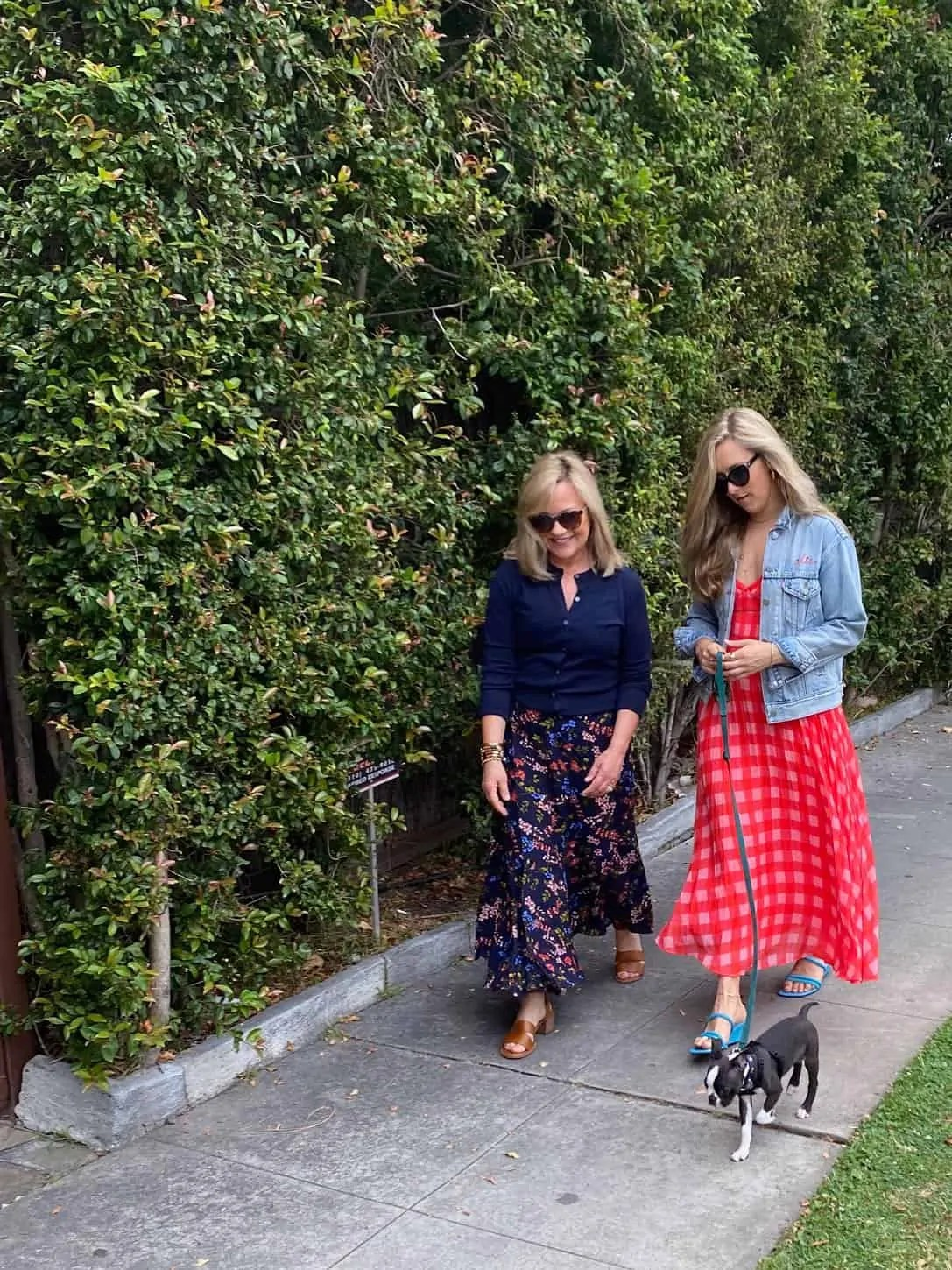 Mother Daughter long skirts Fashion Over 50 Blogger Mary Ann Pickett