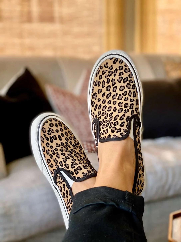 Leopard Slipon Vans