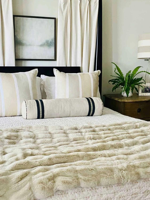 Neutral Bedroom by Designer Mary Ann Pickett