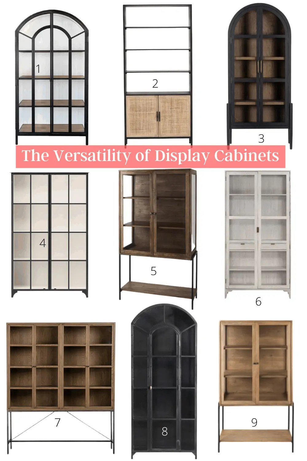 9 New Glass Front Display Cabinets
