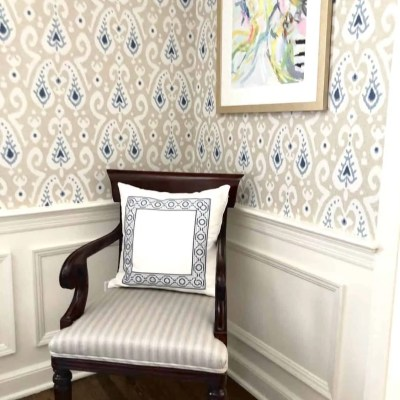 Recovered Dining Room Chair in Stripe